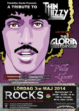 Thin Lizzy tribute afton med The Gloria Story på scen.
